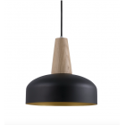 Laelamp Timber 30cm, must/kuldne